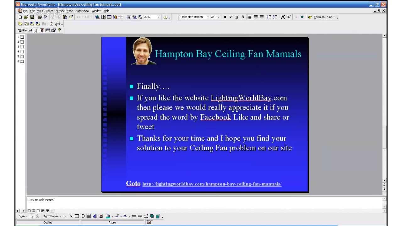 hampton bay ceiling fan manuals youtube