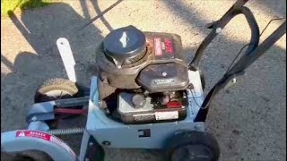 How to REPLACE STARTER pull ROPE COMMON Briggs and Stratton engine  Edger  Lawnmower  Craftsman