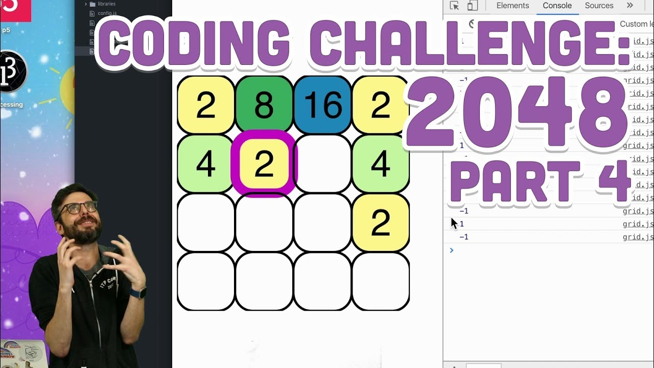 2048 - Part 4 - Coding Challenge #94 4 · The Coding Train