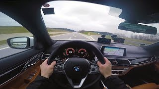 BMW 7 Series 2017 (0-260km/h) POV- Acceleration and Top speed TEST ✔
