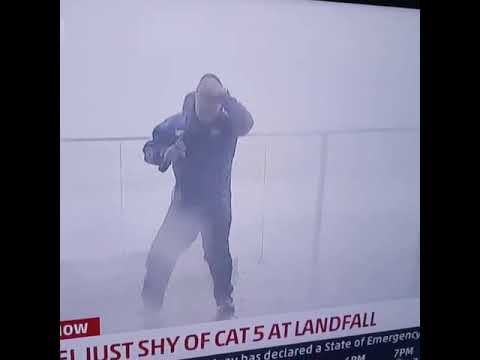 DJ Jaime Ferreira aka Dirty Elbows - Weather Channel's Jim Cantore Dodges 2x4 During Hurricane Michael!