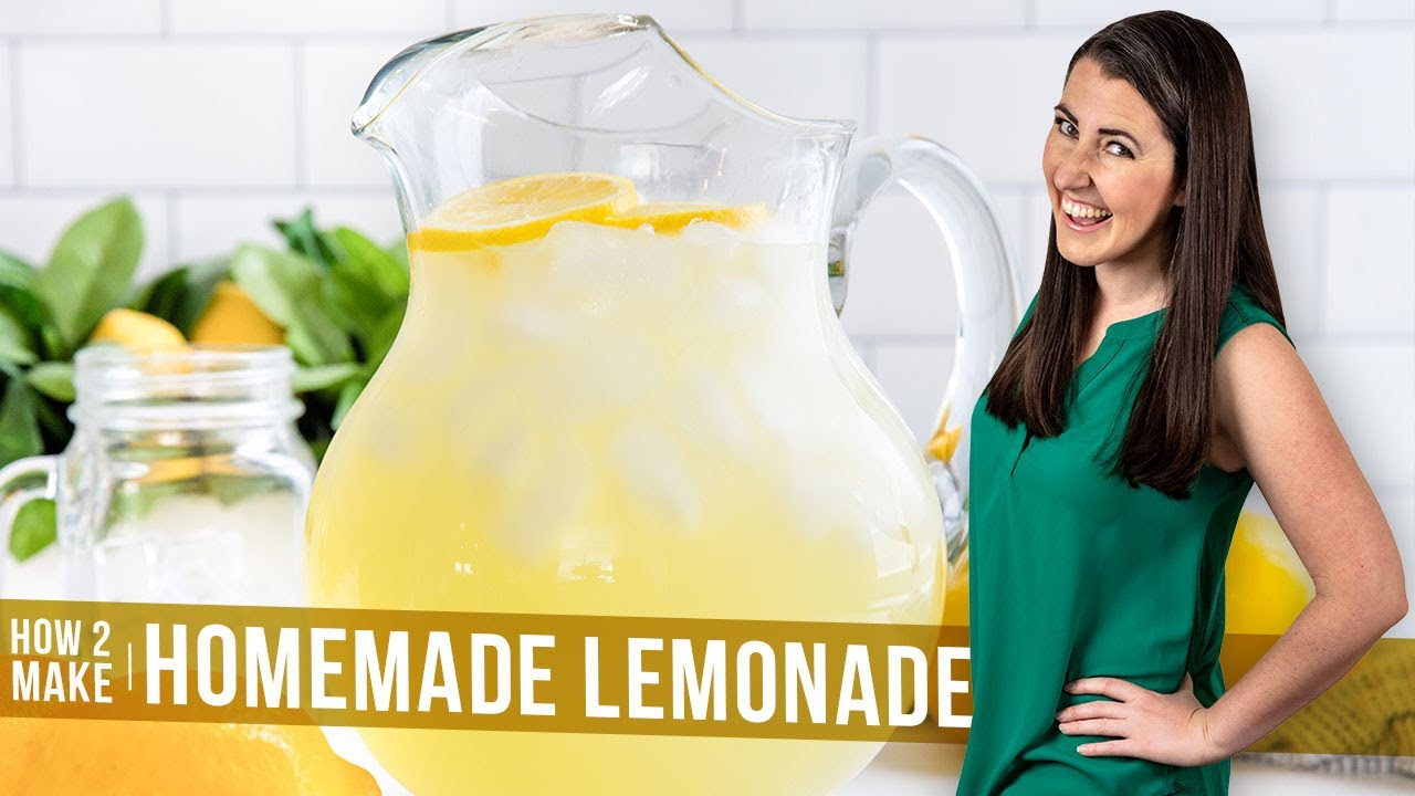 How To Make A Homemade Lemonade Recipe The Stay At Home Chef Youtube