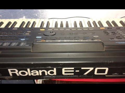 Roland E-70 (factory styles demonstration) HiQ sound