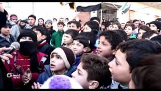 مظاهرات في الغوطة الشرقية تطالب الدول الضامنة للاتفاق بتحمل مسؤولياتها
