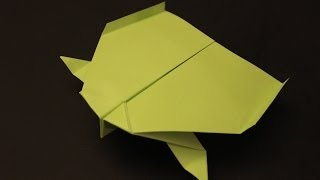 How To Make A Cool Paper Plane Origami: Instruction  Shark