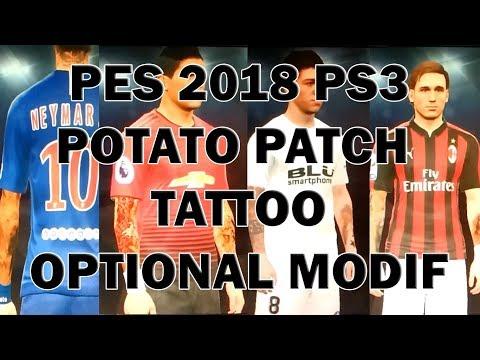 Modif Tattoo PES 2018 Potato Patch PS3 OFW   CFW