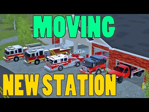 Farming Simulator 17   Moving To New Fire Station   Ford Ranger