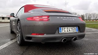 porsche 991 carrera s mk2 3 0 turbo with sport exhaust soundcheck valves open closed
