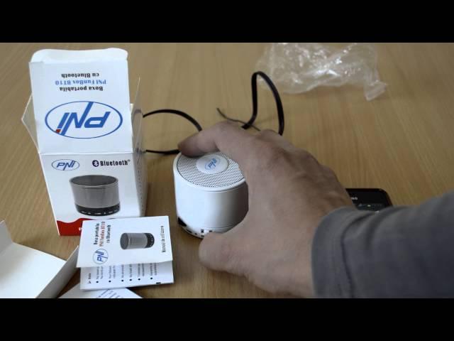 Boxa portabila PNI FunBox BT10 cu Bluetooth, FM radio si Micro SD card