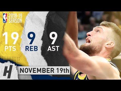 Domantas Sabonis Full Highlights Pacers vs Jazz 2018.11.19 - 19 Pts, 9 Reb, 9 Rebounds!