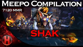 shak 7120MMR Meepo Compilation Dota 2