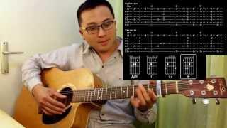 Est-ce que tu m'aimes - Maître Gims - tuto FR guitare lesson tablature chord accords music