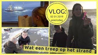 JUTTEN OP TERSCHELLING (vlog: 02 01 2019) daanliesenkids