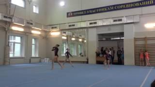 Спортивная акробатика, женская тройка, третий взрослый разряд