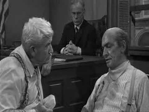 Inherit the Wind scene, creationism vs. evolution