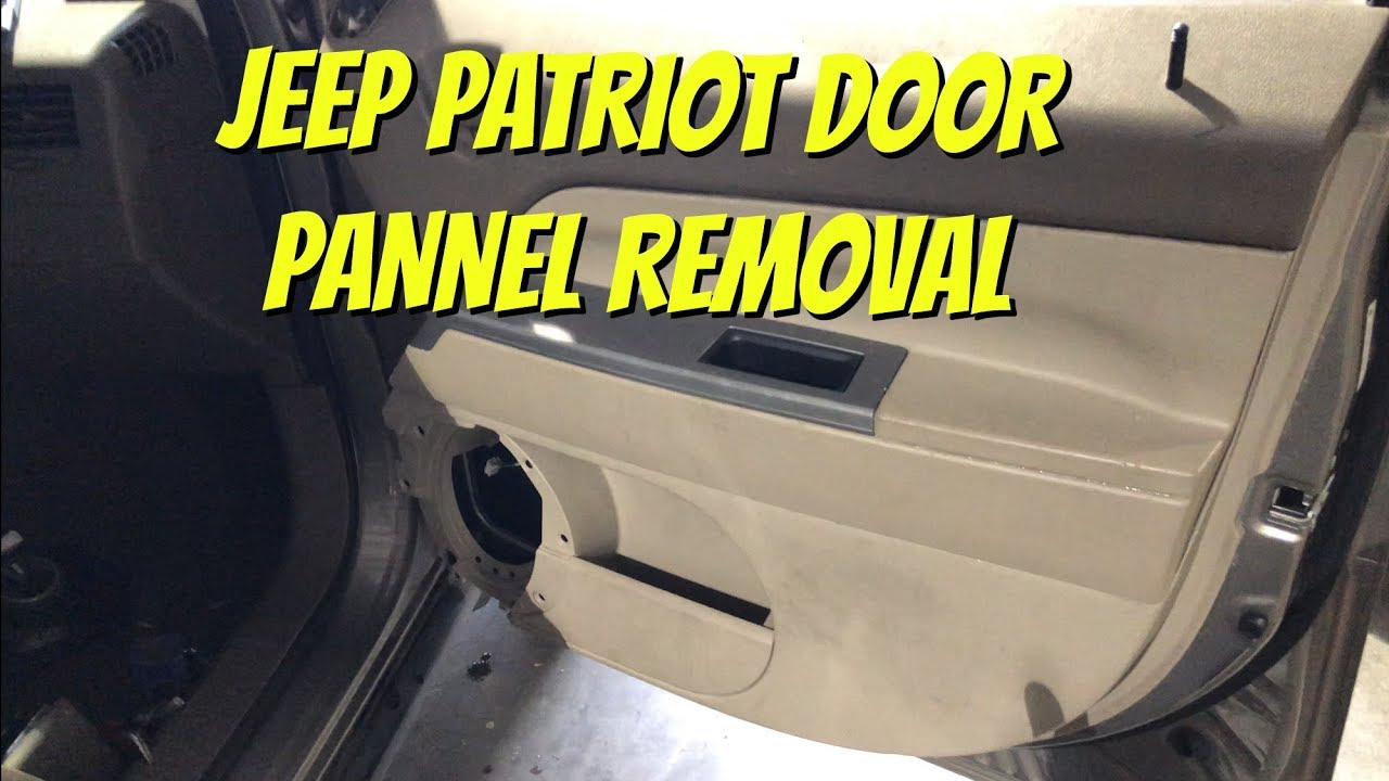 Jeep Patriot Door Panel Removal Speaker Window Latch