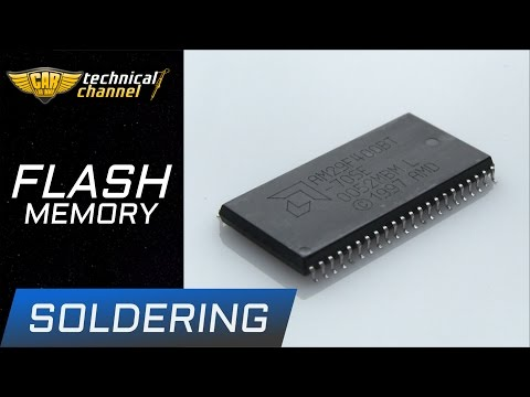 FLASH memory soldering - how to do it correctly?