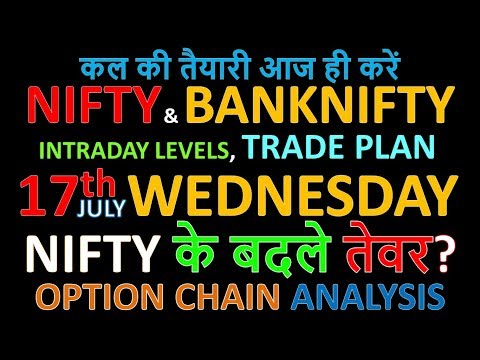 Bank Nifty & Nifty tomorrow 17th July 2019 daily chart Analysis SIMPLE ANALYSIS POWERFUL RESULTS