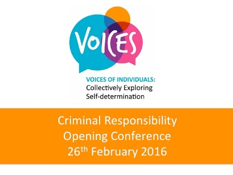 VOICES Opening Project: Criminal Responsibility