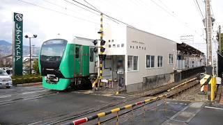 静岡鉄道静岡清水線 - 御門台 駅の出口に線路直角方向の遮断機が