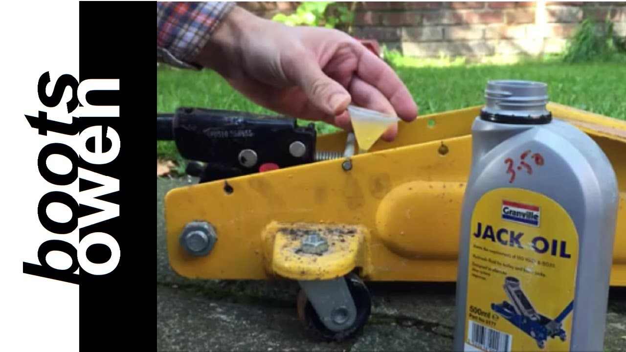 Filling A Trolley Jack With Oil Youtube