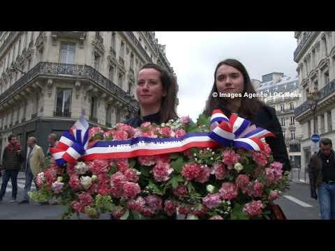 Cortège traditionnel de Jeanne d'Arc. Action Française. Paris/France - 13 Mai 2018