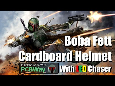 DIY - Boba Fett Helmet With LED Chaser Circuit