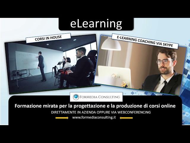 Consulenza elearning, progettazione e sviluppo corsi online