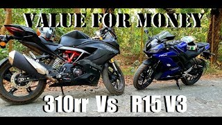 NEW R15 V3 Vs TVS 310rr   Look vs Look  Which one is value for money ?