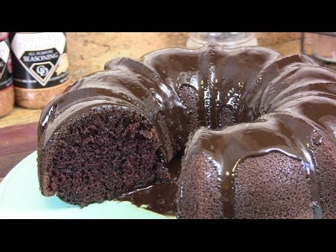 Chocolate Sour Cream Cake W/ Chocolate Ganache |Cooking With Carolyn|