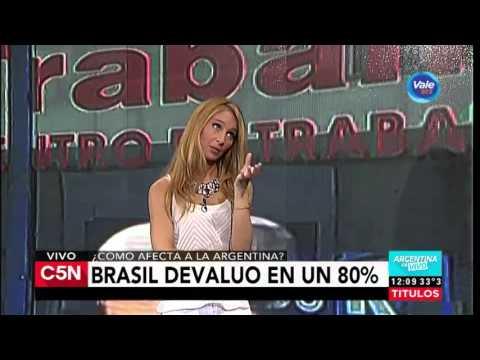 C5N - Economía: Brasil devaluó en un 80%