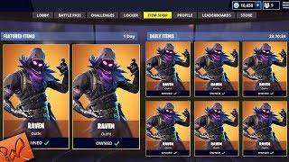 LEGENDARY RAVEN Skin Gameplay! (Fortnite Battle Royale)