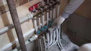 видео Терморегулятор для водяного теплого пола и термостат температуры