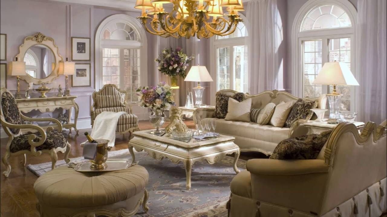 Gold Living Room Furniture For Luxury Home Interior Design Jpg - YouTube