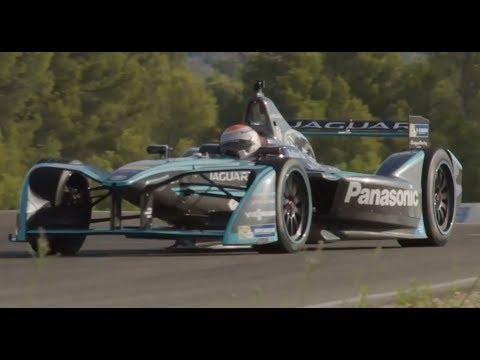 Panasonic Jaguar Racing I-TYPE 2 on the track