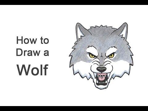 How To Draw A Wolf Head (Cartoon)