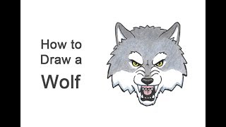 How to Draw a Wolf Head (Cartoon)