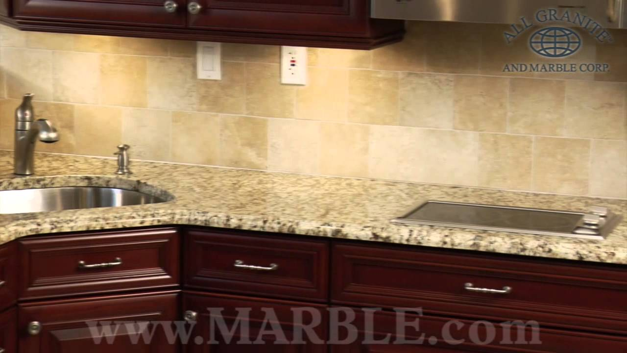 Santa Cecilia Granite Kitchen Countertops III | Marble.com   YouTube
