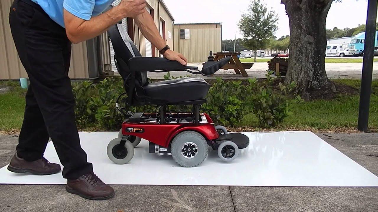 pride jazzy 1113 ats portable break down power chair red [ 1280 x 720 Pixel ]