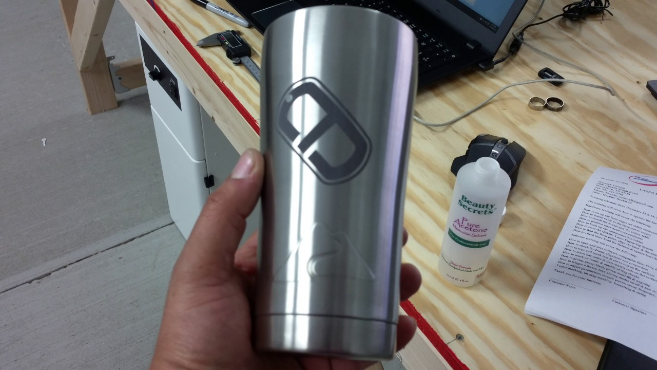 Laser Engraving On Stainless Steel Tumblers Including Yeti