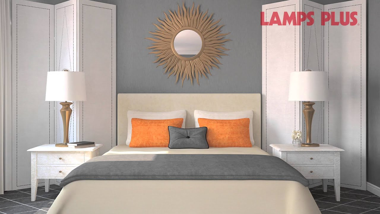 Bedroom Interior Design Ideas   Decorating The Wall Behind Your Bed   Lamps  Plus   YouTube