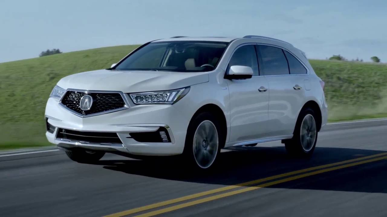 2017 acura mdx driving video white diamond pearl. Black Bedroom Furniture Sets. Home Design Ideas