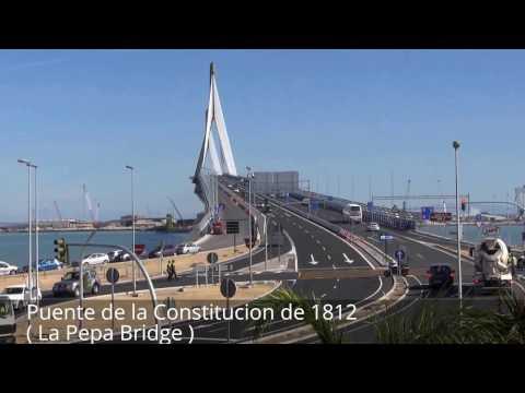 Places to see in ( Cadiz - Spain ) Puente de la Constitucion de 1812 ( La Pepa Bridge )