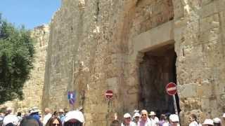 Израиль: видео экскурсия.Иерусалим, Сионские ворота.(Гид в Израиле - Дмитрий Шапиро. Подробней читайте здесь: ..., 2013-07-16T07:16:59.000Z)