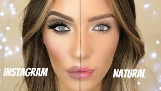 Instagram Makeup VS Natural Makeup | Stephanie Lange
