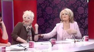Jenny Eclair talks about her pubes on Loose Women 4th March 2011