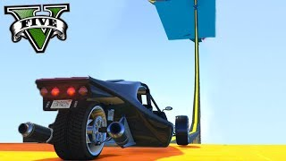 GTA V Online: CORRIDA do CARRO 3 RODAS!!! (SUBIDA 99,999% DIFÍCIL)
