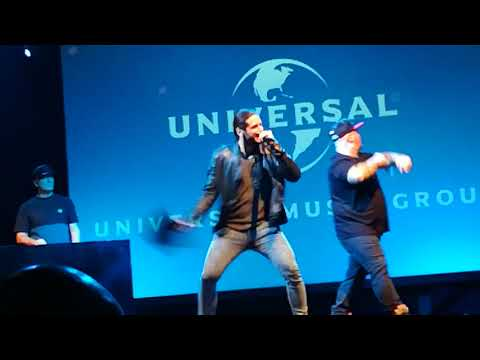 Jake La Furia live - convention Universal Music group - El Party