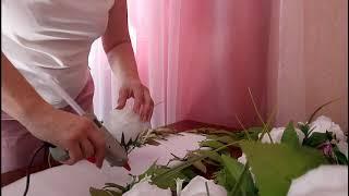 Композиция на свадебный стол из искусственных цветов