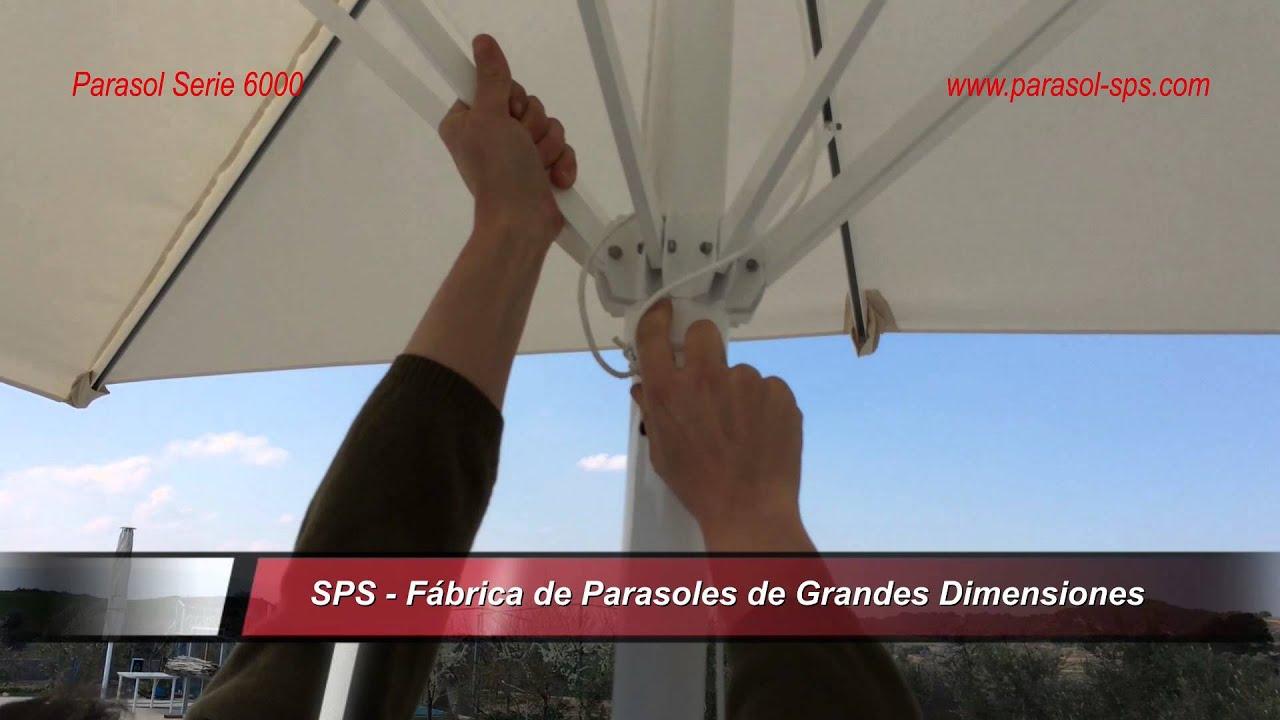 Parasol sps serie 6000 resistente hasta 3 5m f cil - Recambio tela parasol ...
